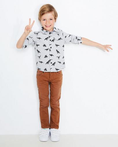 Lichtgrijs jeanshemd